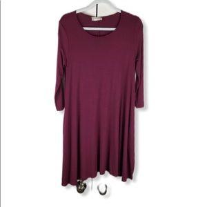 Altar'd State Long Sleeve Knit Shift Dress